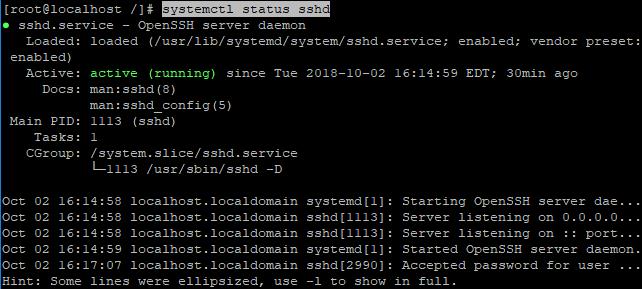 4-2 systemctl status sshd